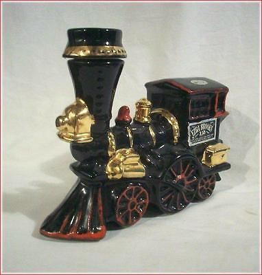 EZRA BROOKS OLD WHISKEY BOTTLE DECANTER Ceramic TRAIN LOCOMOTIVE 1969