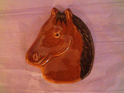 Dish Plate Horse Head Face Trinket Small Plate Tray Ceramic Handcrafted Pony