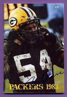 Bart Starr (Head Coach) Autographed 1983 Green Bay Packers Media Guide W/coa