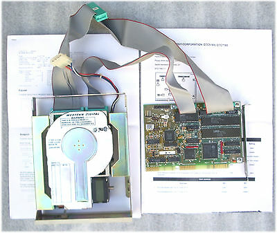 Vintage Hard Disk 20Mb Tandon Tm 262 Mfm + Controller Isa Mfm Dtc7180 + Cable