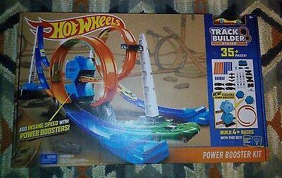 Hot Wheels Track Builder System Power Booster Kit 35+ Pieces