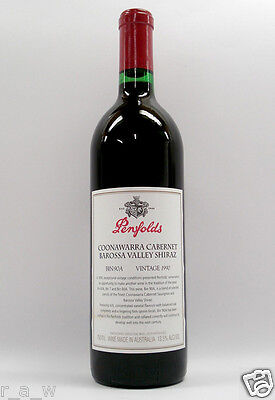 Penfolds Bin 90A Cabernet Shiraz 1990 Red Wine