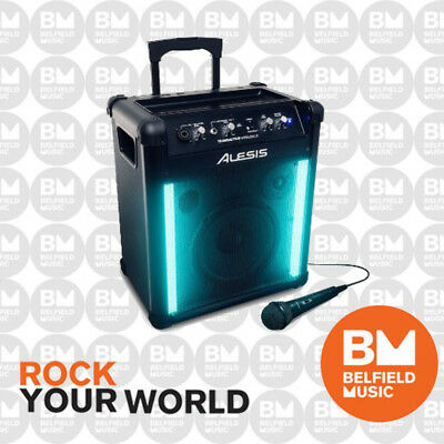 Alesis TransActive Wireless 2 Portable Rechargeable Bluetooth Speaker w/ Lights