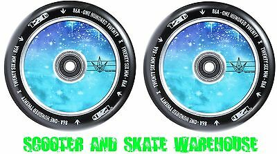 2X Envy 120Mm Hollow Core Scooter Wheels - Galaxy - Bearings Included