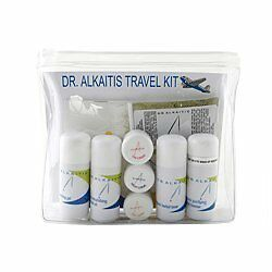 DR. ALKAITIS Organic Travel Kit Include Day, Night, and Eye Cremes, Herbal Toner