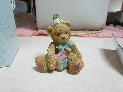 1992 Cherished Teddies NOS: #911321 Age 2 Bear Two Sweet Two Figurine in OB