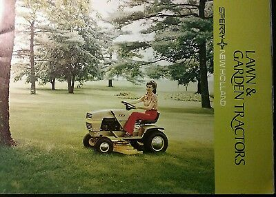 Sperry New Holland S14 Lawn Garden Tractor FULL COLOR Sales Brochure 22pg Ariens