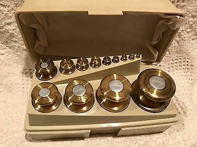 Ohaus 13 piece Vintage Sto-A-Weigh Calibration 1g - 1Kg Weight Set