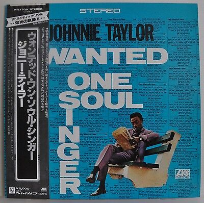 Johnnie Taylor Wanted One Soul Singer Japan LP P-6170A Insert Obi Atlantic