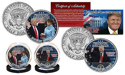 DONALD TRUMP 45th President Official INAUGURATION 1-20-2017 JFK U.S. 2-Coin Set