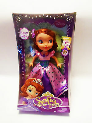 "Disney Sofia The First Princess ~ 10"" Inch Doll #53 Never Stop Trying"