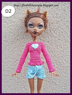 Ropa para Monster High / Monster High handmade doll clothes