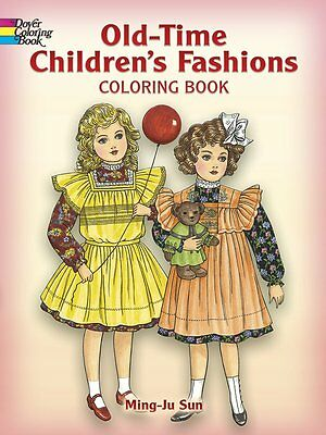 2005 Coloring Book For Adults Old-Time Children's Fashion Designs 32 Pages FUN!