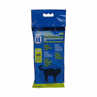 Cat Pan Litter Tray Liner Extra Large Pack of Eight Pet Supplies Biodegradable