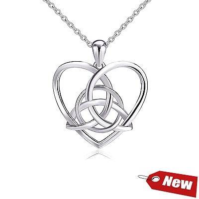 Jewelry 925 Sterling Silver Love Heart Pendant Necklace Chain Women Fashion A!