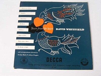 """DAVID WHITFIELD Yours From The Heart Ex Decca 1957 UK 10"""" LP"""