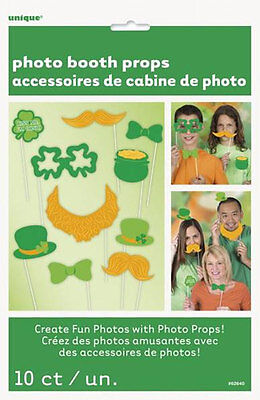 10 ST PATRICKS DAY PHOTO PROPS Irish Photo Booth Selfie Party Accessory 62640