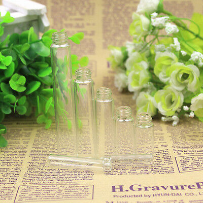 10x Mini 5ml Glass Refillable Perfume Empty Bottle Atomizer Pump Spray Top hcuk
