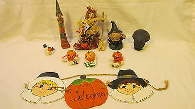 A Variety Of 9 Hand Made Halloween Goodies - One Signed Betty Baile