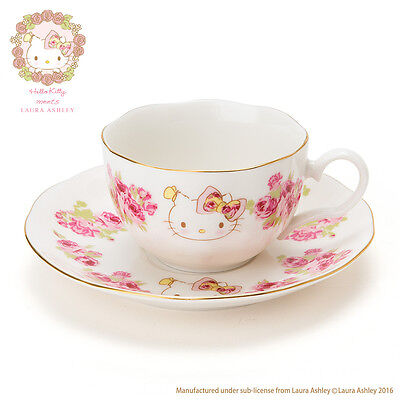 SANRIO Japan Hello Kitty Cup & Saucer (Hello Kitty meets LAURA ASHLEY)