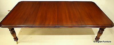 Large Mahogany Dining Table Wind Out Seats UP To 12 FREE Nationwide Delivery