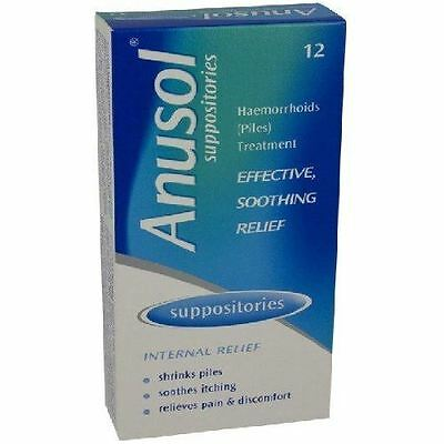 Anusol 12 Suppositories Effective Soothing Relief | Internal