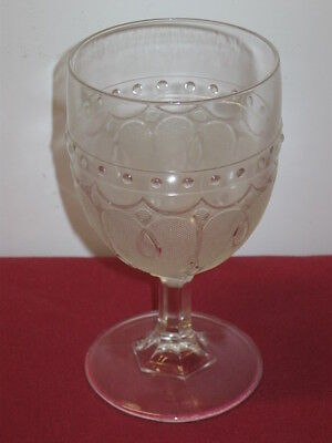 """Portland Glass Co. """"loop And Dart-Round Ornaments   Water Goblets, Flint --  6"""