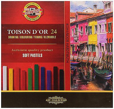 KOH-I-NOOR TOISON DOR 8584 Artists Soft Pastels Pack of 24