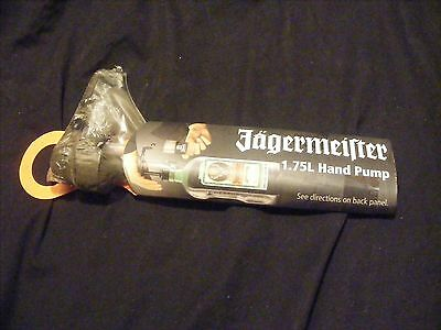 NEW Jagermeister 1.75L Hand Pump Jager Bottle Shot Tap Dispenser Sealed