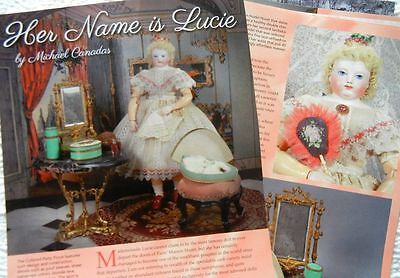 12 History Article + Paper Doll -  Antique French Huret Dolls & Clothing