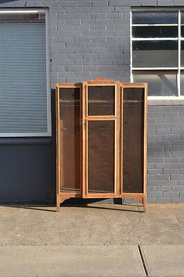 Vintage wooden wardrobe cupboard display storage French provincial shabby chic