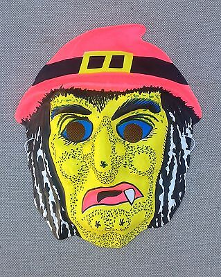 VINTAGE Witch Lady Hag Monster Creature HALLOWEEN MASK Mint Shape Plastic Style