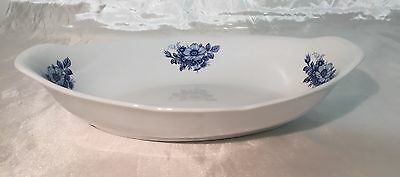 Beautiful Delft Blue & White Ter Steege FLORAL Oval Serving Dish Bowl NEW