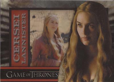 """Game of Thrones Season 1 - """"Cersei Lannister"""" Shadowbox Chase Card"""