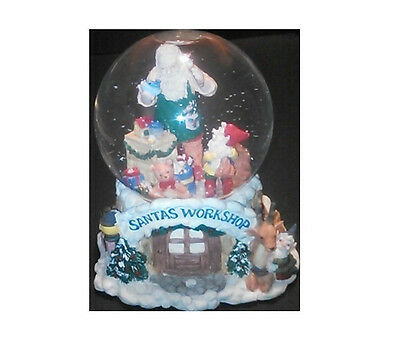 Hollytree - Collectable - Santa's Workshop Waterball - Musical Snow Globe