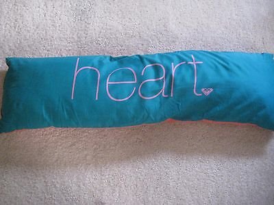 ROXY Turquoise/Pink Reversible Rectangular Throw Pillow Wild/Heart