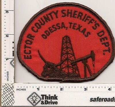 Ector Sheriff.Texas. Old patch Cheesecloth backing.