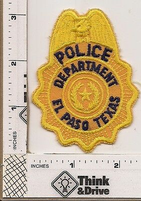 El Paso Police.Texas. Yellow Hat Patch.