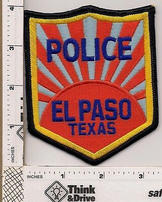 El Paso Police.Texas. shoulder Patch.