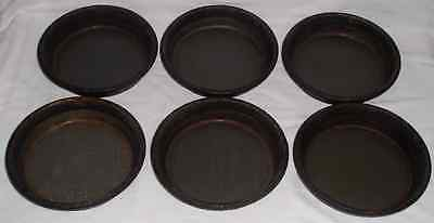 6 PERSONAL SIZE DEEP DISH Pizza Hut PANS Seasoned Party FUN *SHIP 6@$13 - 12@$18