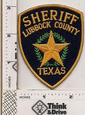 Lubbock County Sheriff. Hat Patch.Texas.