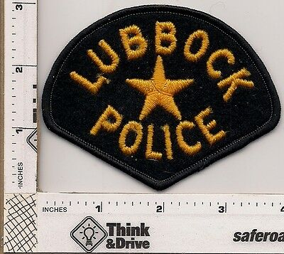 Lubbock Police.Old Patch cheesecloth backing.Texas.