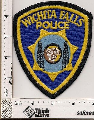 Wichita Falls Police.Old Patch Cheesecloth backing. Texas.