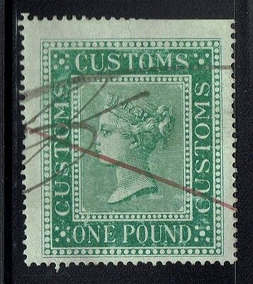 Great Britain - Customs 1 Pound - Barefoot# 18 - Used (Page Rem) - Lot 040416