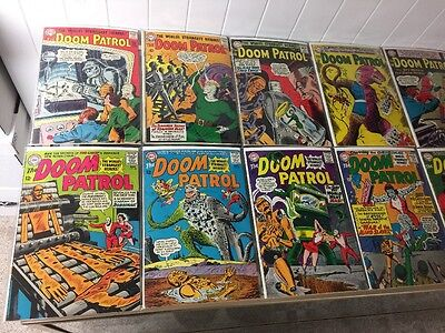 Doom Patrol 86-124 Straight Run 3.0-6.0 Gd-vg/Fn Fantastic Complete Collection