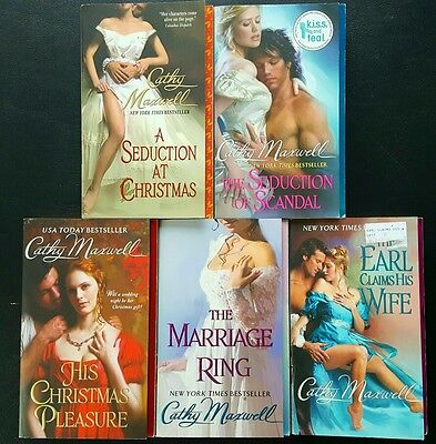 Lot Of 5 Cathy Maxwell Books - Scandels & Seductions 1-5 Christmas Earl Marriage