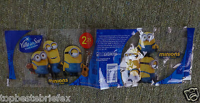 4 MINIONS WATER SODA LABEL RARE fromARGENTINA IN  SPANISH  SOUTHAMERIKA
