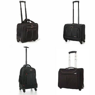"""17"""" 4 Wheeled Spinner Laptop Trolley Office Cabin Business Case Briefcase Bag"""