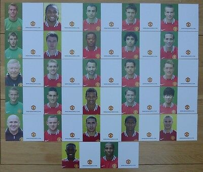 2011-12 Unsigned Man Utd Club Cards - Individually Priced