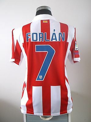Diego FORLAN #7 Atletico Madrid Home Football Shirt Jersey 2010/11 (M)